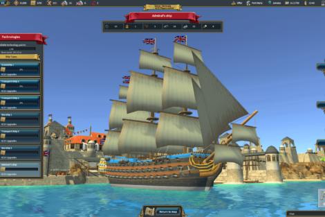 11 Admirals Caribbean Empires OpenBeta 02 19 Techtree 01 Screenshot