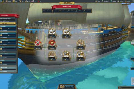 12 Admirals Caribbean Empires OpenBeta 02 19 Techtree 02 Screenshot