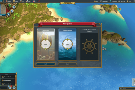 17 Admirals Caribbean Empires OpenBeta 02 19 Quests Screenshot