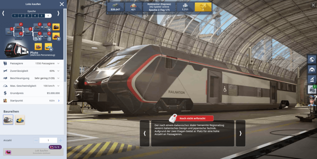 Rail Nation Browsergame