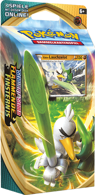 Pokemon Trading Card Game Online Flammende Finsternis Booster Themendeck Galarian Lauchzelot